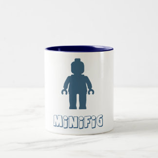 Minifig [azul marino] cerca modifica mi Minifig Taza De Dos Tonos