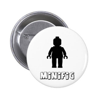 Minifig Black by Customize My Minifig Pinback Button