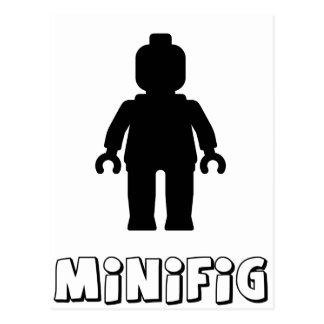 Minifig [Black] by Customize My Minifig Postcard