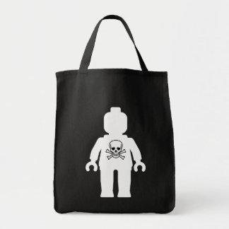 Minifig blanco con el logotipo de los huesos del c bolsa tela para la compra