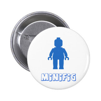 MInifig Blue by Customize My Minifig Pinback Buttons