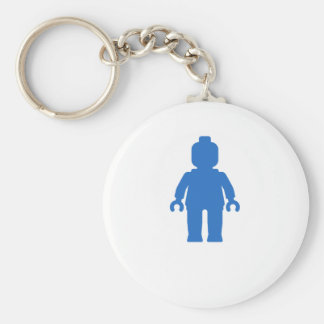 Minifig [Blue] by Customize My Minifig Basic Round Button Keychain