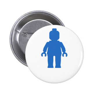 Minifig Blue by Customize My Minifig Pin