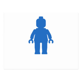 Minifig [Blue] by Customize My Minifig Postcard
