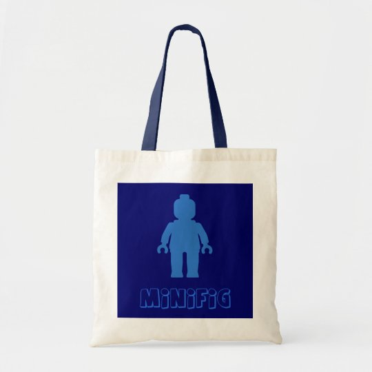 Minifig [Blue] by Customize My Minifig Tote Bag