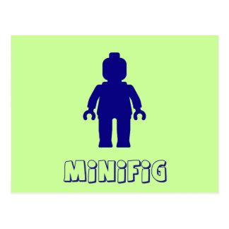 Minifig [Dark Blue] by Customize My Minifig Postcard