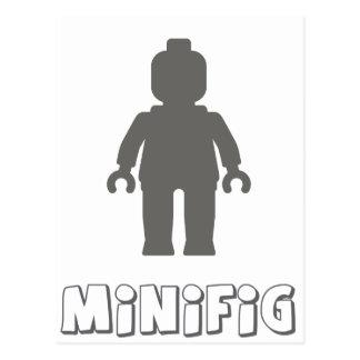 Minifig [Dark Grey] by Customize My Minifig Postcard