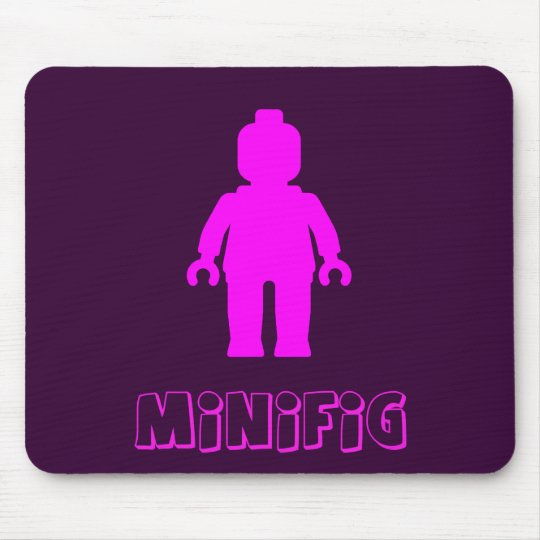 Minifig [Dark Pink] by Customize My Minifig Mouse Pad