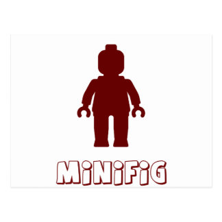 Minifig [Dark Red] by Customize My Minifig Postcard