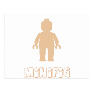 Minifig [Flesh Pink] by Customize My Minifig Postcard