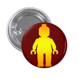 Minifig [Golden] by Customize My Minifig Pinback Buttons