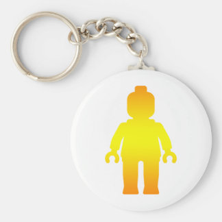 Minifig [Golden] by Customize My Minifig Basic Round Button Keychain
