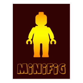 Minifig [Golden] by Customize My Minifig Postcard