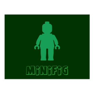Minifig [Green] by Customize My Minifig Postcard