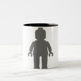 Minifig [gris oscuro grande] cerca modifica mi taza de dos tonos