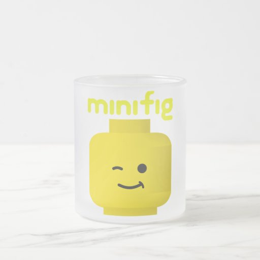 MINIFIG HEAD 10 OZ FROSTED GLASS COFFEE MUG