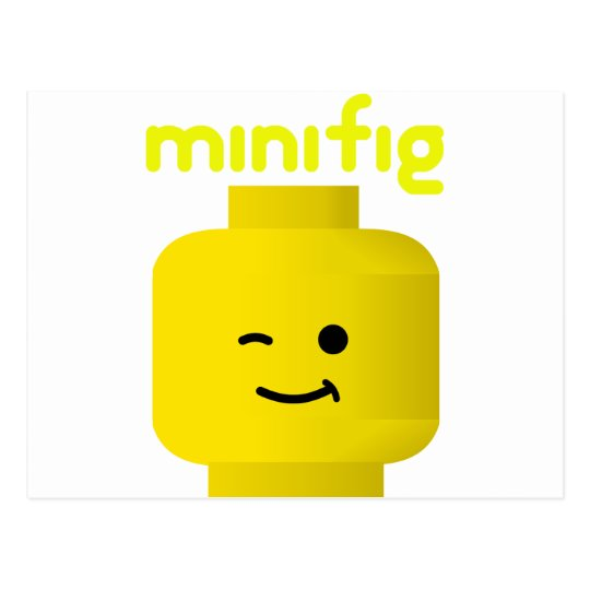 MINIFIG HEAD POSTCARD