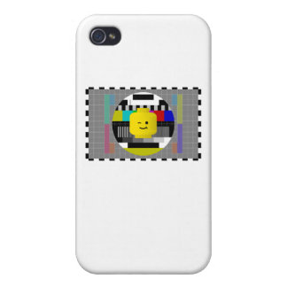 Minifig Head TV Test Transmission iPhone 4 Cover