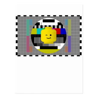 Minifig Head TV Test Transmission Postcard