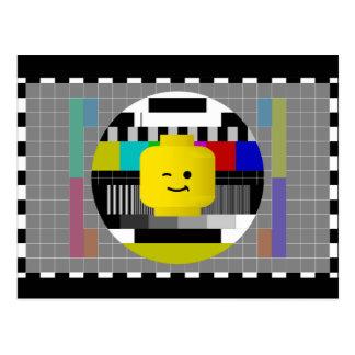 Minifig Head TV Test Transmission Postcard