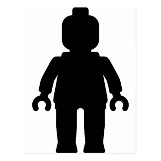 Minifig [Large Black] by Customize My Minifig Postcard