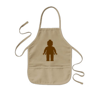 Minifig [Large Brown] by Customize My Minifig Kids Apron