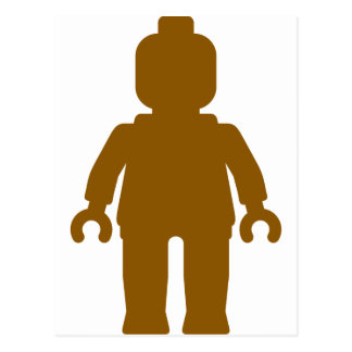 Minifig [Large Brown] by Customize My Minifig Postcard