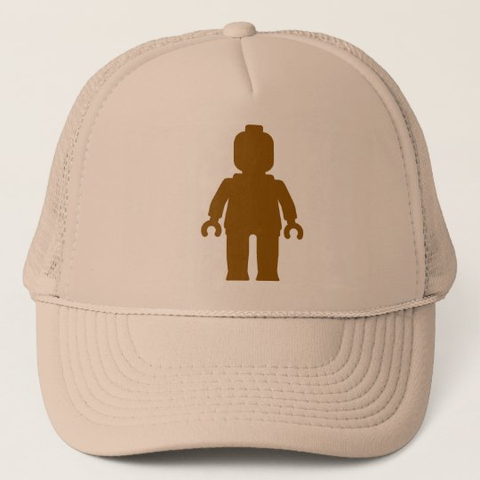 Minifig [Large Brown] by Customize My Minifig Trucker Hat