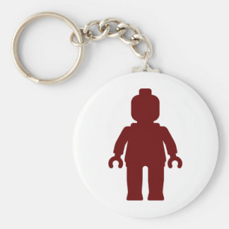 Minifig [Large Dark Red] by Customize My Minifig Basic Round Button Keychain