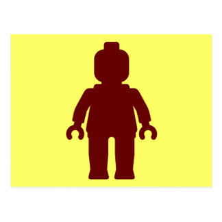 Minifig [Large Dark Red] by Customize My Minifig Postcard