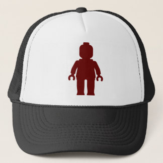 Minifig [Large Dark Red] by Customize My Minifig Trucker Hat