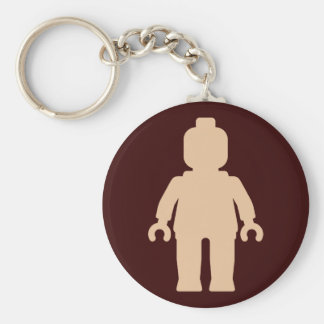 Minifig [Large Flesh Pink] by Customize My Minifig Basic Round Button Keychain