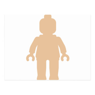 Minifig [Large Flesh Pink] by Customize My Minifig Postcard