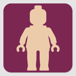 Minifig [Large Flesh Pink] by Customize My Minifig Square Sticker