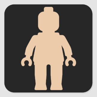 Minifig [Large Flesh Pink] by Customize My Minifig Square Stickers