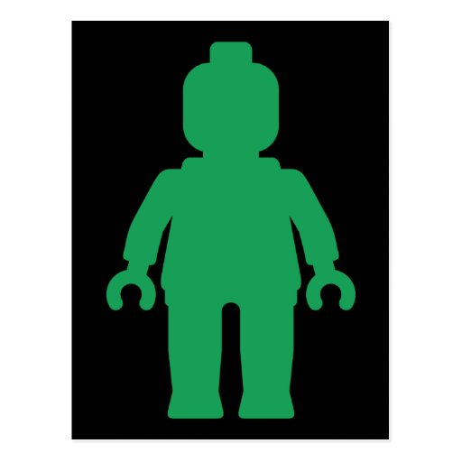 Minifig [Large Green] by Customize My Minifig Postcard