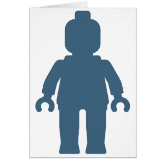 Minifig [Large Navy Blue] by Customize My Minifig Card