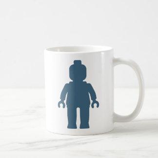 Minifig [Large Navy Blue] by Customize My Minifig Basic White Mug