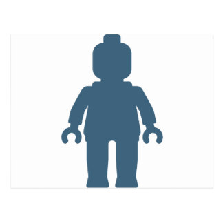 Minifig [Large Navy Blue] by Customize My Minifig Postcard