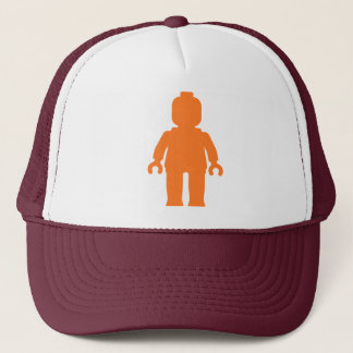 Minifig [Large Orange] by Customize My Minifig Trucker Hat