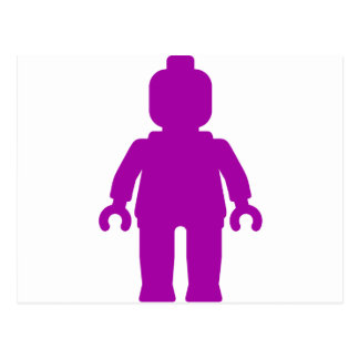 Minifig [Large Purple] by Customize My Minifig Postcard