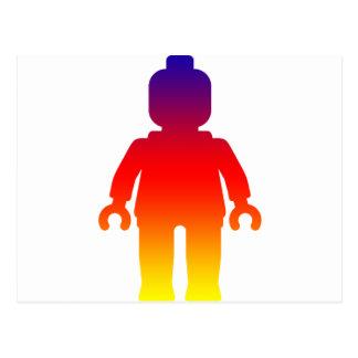 Minifig [Large Rainbow 2] by Customize My Minifig Postcard