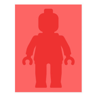 Minifig [Large Red] by Customize My Minifig Postcard