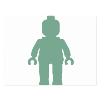 Minifig [Large Sand Green] by Customize My Minifig Postcard