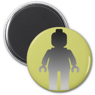 Minifig [Large Silver Minifig] by Customize My Min 2 Inch Round Magnet