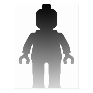 Minifig [Large Silver Minifig] by Customize My Min Postcard