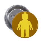 Minifig [Large Yellow] by Customize My Minifig 2 Inch Round Button