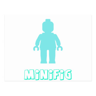 Minifig [Light Blue] by Customize My Minifig Postcard