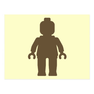 Minifig [Light Brown] by Customize My Minifig Postcard
