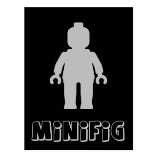 Minifig [Light Grey] by Customize My Minifig Postcard
